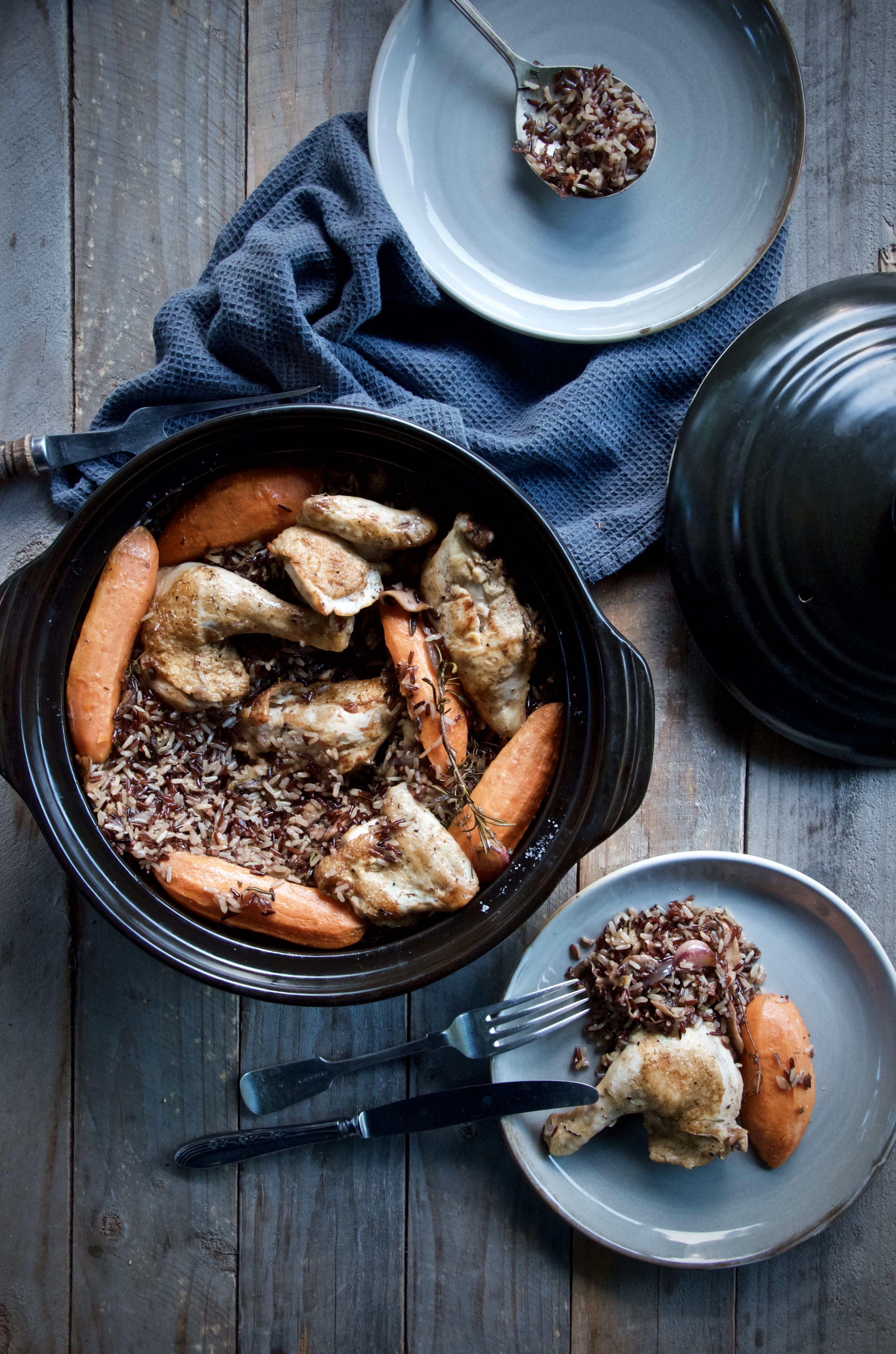One Pot Chicken and Wild Rice Bake